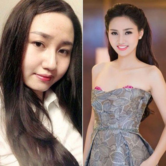 Chấm điểm mặt mộc của các nàng Hoa hậu & Á hậu Việt nổi tiếng - Ảnh 16