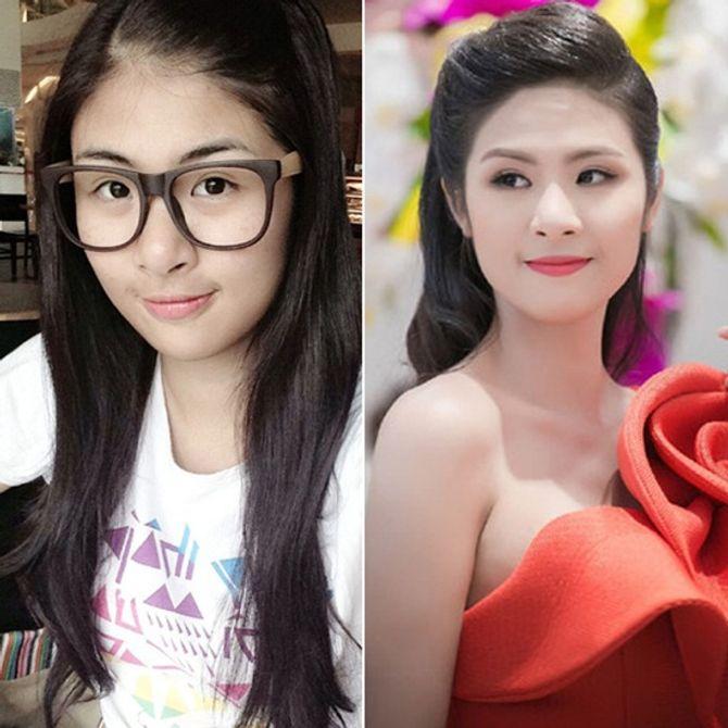 Chấm điểm mặt mộc của các nàng Hoa hậu & Á hậu Việt nổi tiếng - Ảnh 4
