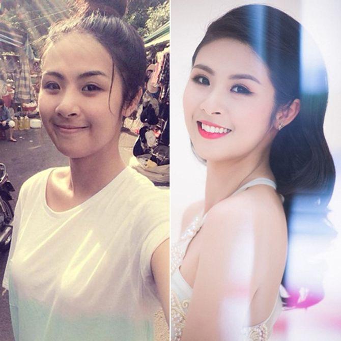 Chấm điểm mặt mộc của các nàng Hoa hậu & Á hậu Việt nổi tiếng - Ảnh 5