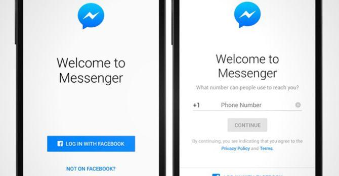 Dùng Facbook Messenger không cần tài khoản