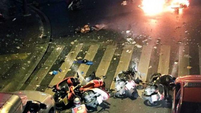 Hình ảnh thương tâm vụ nổ lớn ở Thái Lan - Ảnh 1