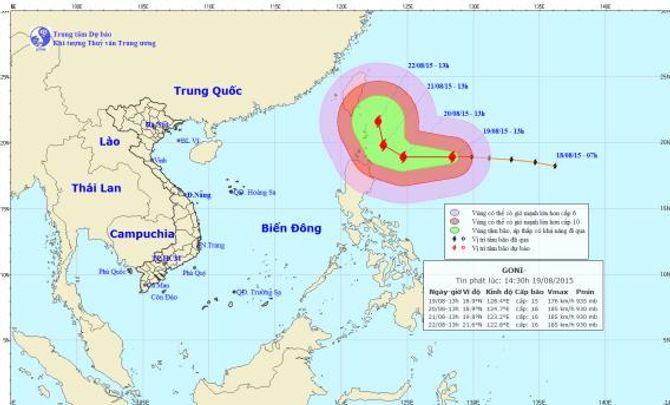 Tin mới nhất về cơn bão Goni cực mạnh hướng vào biển Đông