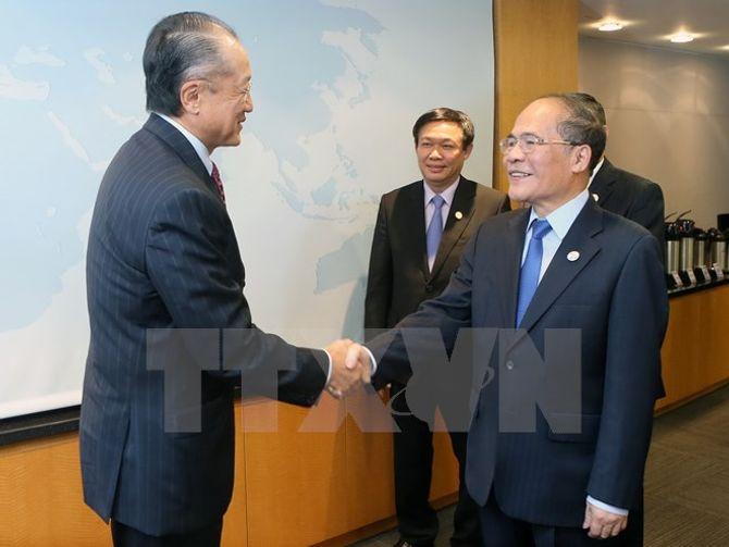 Chủ tịch Quốc hội gặp Chủ tịch WB - Ảnh 1