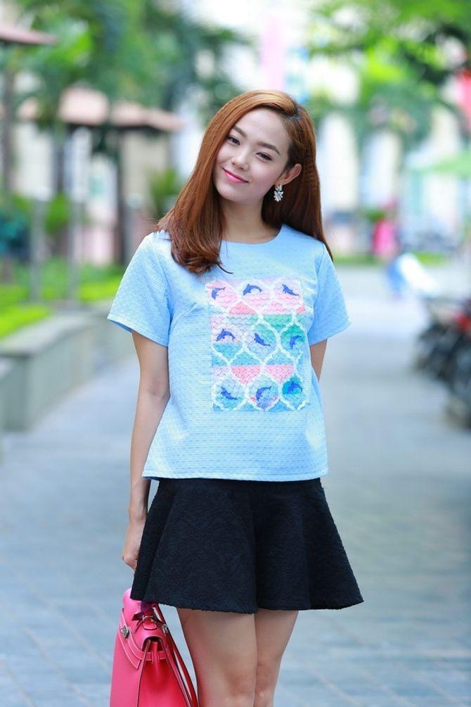Hà Tăng, Ngọc Trinh, Minh Hằng khoe vóc dáng xinh tươi với váy ngắn - Ảnh 4