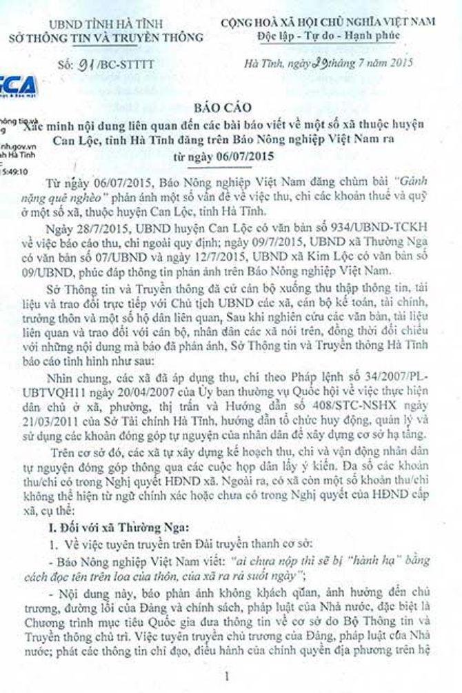 'Lạm thu' ở huyện nghèo Hà Tĩnh: Phó Thủ tướng Chính phủ có văn bản chỉ đạo