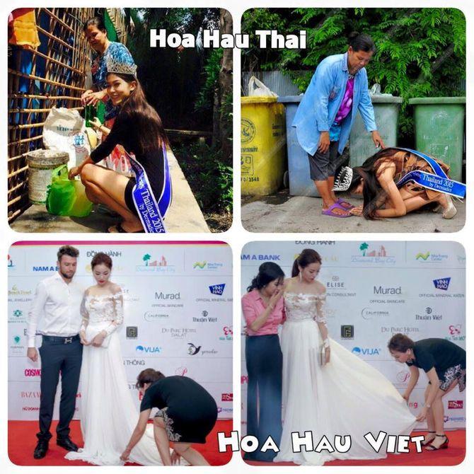 Hình ảnh trái ngược gây tranh cãi của Hoa hậu Thái Lan và Hoa hậu Kỳ Duyên - Ảnh 3