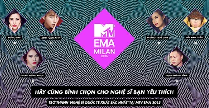 Sơn Tùng M-TP cạnh tranh với Đông Nhi, Hoàng Thùy Linh tại MTV EMA 2015 - Ảnh 1