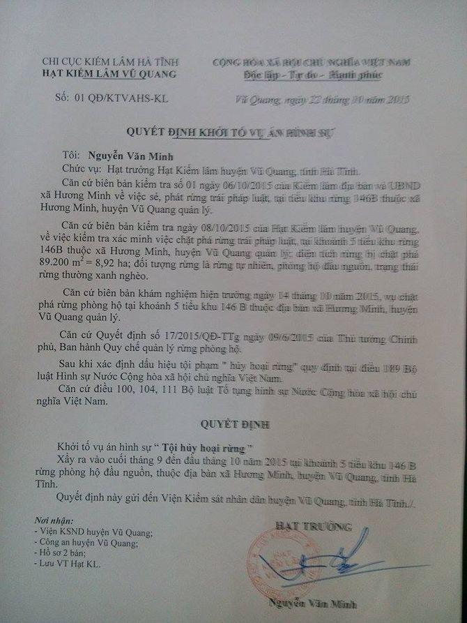 Hà Tĩnh: Khởi tố vụ án phá rừng ở huyện Vũ Quang - Ảnh 2