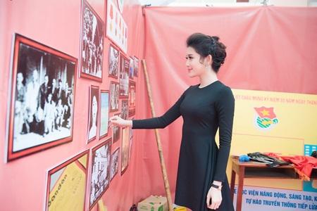 Á hậu Huyền My phối váy bình dân với phụ kiện hàng hiệu - Ảnh 5