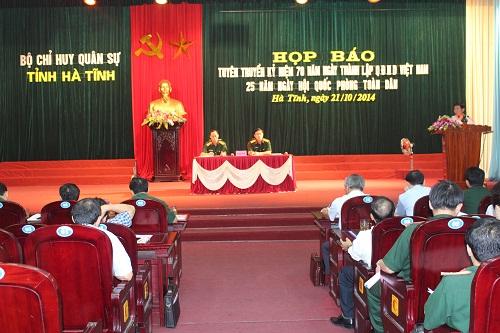 Hà Tĩnh tổ chức nhiều hoạt động kỷ niệm Ngày thành lập QĐND VN - Ảnh 1