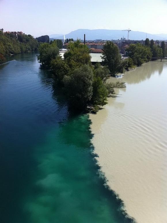 Kỳ lạ những dòng sông hai màu nước trên thế giới - Ảnh 1