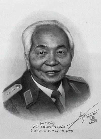 Đại tướng Võ Nguyên Giáp sống động trong tranh - Ảnh 1