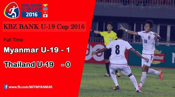 U19 Thái Lan bất ngờ thua U19 Myanmar, lỡ hẹn chung kết với U19 Việt Nam - Ảnh 1