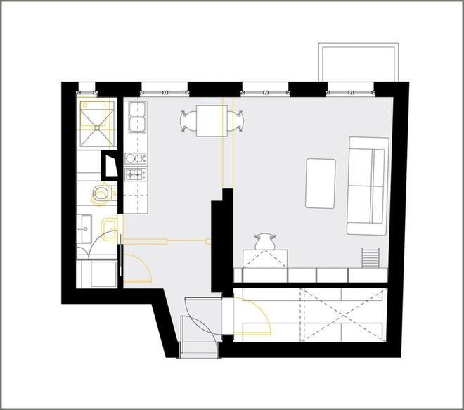 Bí mật của căn hộ 40m² nhìn đâu cũng đầy ắp đồ đạc mà vẫn siêu gọn gàng - Ảnh 7