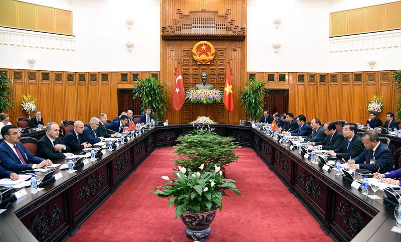 Hình ảnh lễ đón Thủ tướng Thổ Nhĩ Kỳ thăm chính thức Việt Nam - Ảnh 11