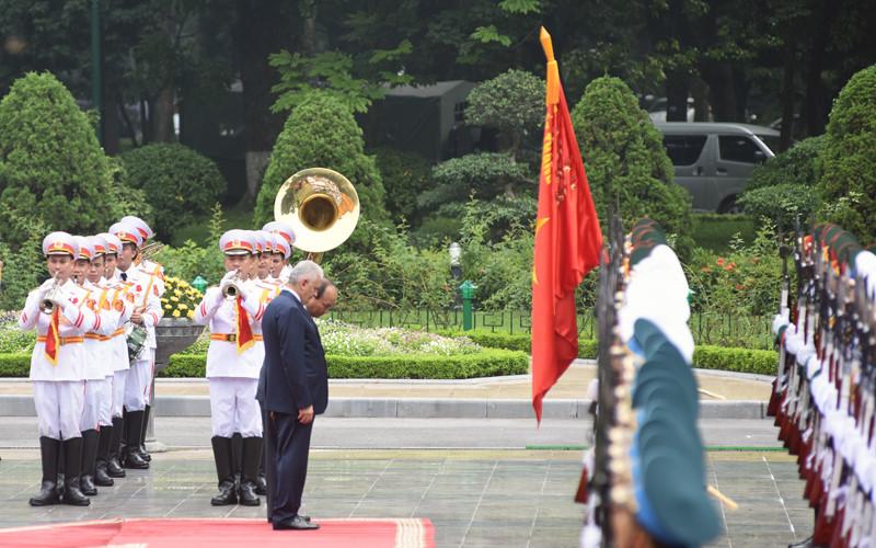 Hình ảnh lễ đón Thủ tướng Thổ Nhĩ Kỳ thăm chính thức Việt Nam - Ảnh 4