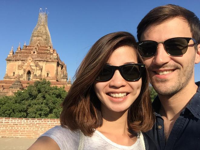 Chàng trai Pháp đưa bạn gái Việt sang Myanmar cầu hôn trên khinh khí cầu  - Ảnh 3