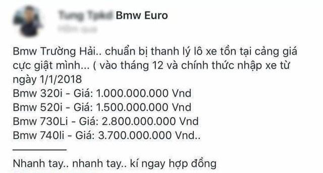Sự thật thông tin rao bán 700 xe BMW đang bị tạm giữ vì buôn lậu của Euro Auto - Ảnh 1