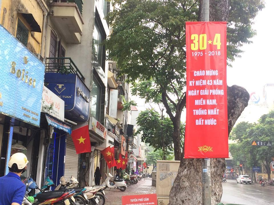 Hà Nội rực rỡ cờ hoa mừng ngày thống nhất đất nước - Ảnh 6