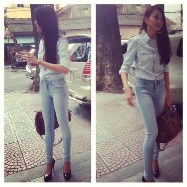 Học cách mix đồ đơn giản mà đẹp với quần jean skinny - Ảnh 13