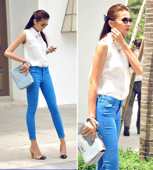 Học cách mix đồ đơn giản mà đẹp với quần jean skinny - Ảnh 14