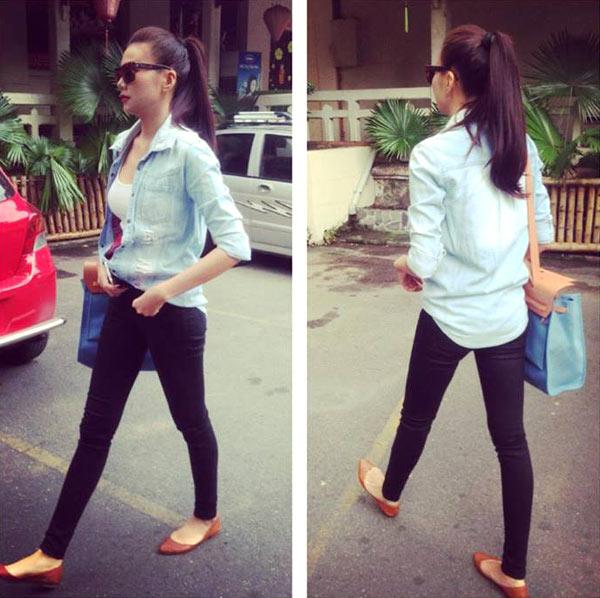 Học cách mix đồ đơn giản mà đẹp với quần jean skinny - Ảnh 16