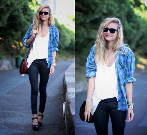 Học cách mix đồ đơn giản mà đẹp với quần jean skinny - Ảnh 2
