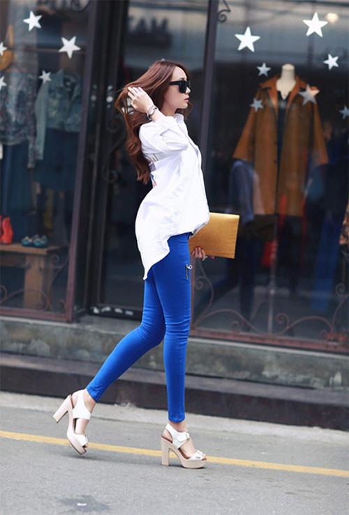 Học cách mix đồ đơn giản mà đẹp với quần jean skinny - Ảnh 3
