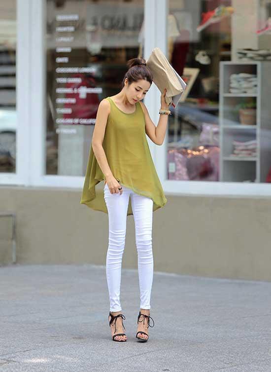 Học cách mix đồ đơn giản mà đẹp với quần jean skinny - Ảnh 8