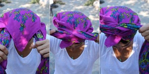 Biến tấu thành các kiểu tóc cá tính với khăn turban chào Hè - Ảnh 20