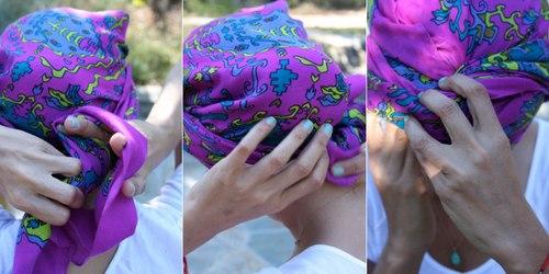 Biến tấu thành các kiểu tóc cá tính với khăn turban chào Hè - Ảnh 21