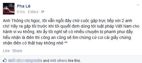 Pha Lê dọa kiện, Dương Yến Ngọc lại nói lời xin lỗi - Ảnh 2