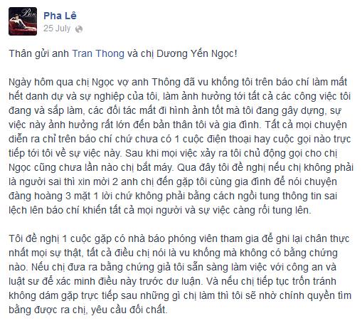 Pha Lê dọa kiện, Dương Yến Ngọc lại nói lời xin lỗi - Ảnh 3