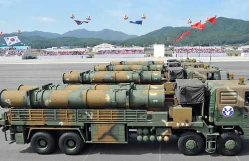 """Hàn Quốc diễu binh """"khoe"""" lực lượng quân sự hùng mạnh - Ảnh 1"""