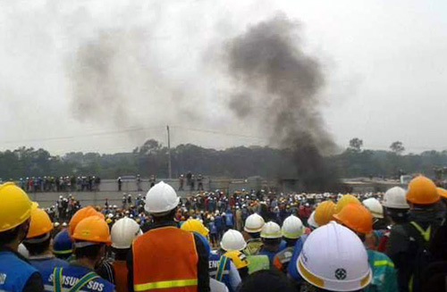 Khởi tố vụ xô xát tại nhà máy Samsung Thái Nguyên - Ảnh 1