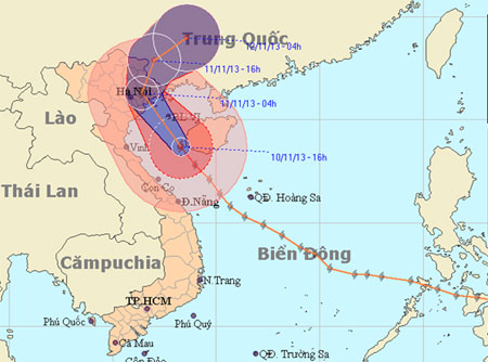 Dân mạng thức trắng đêm dõi theo siêu bão Haiyan - Ảnh 1