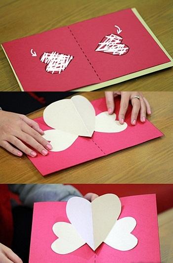 Valentine làm thiệp nổi trái tim dành tặng người yêu - Ảnh 6