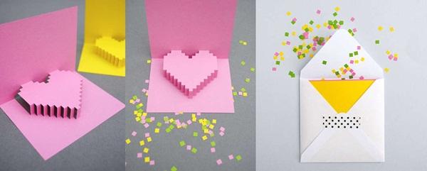 Valentine làm thiệp nổi trái tim dành tặng người yêu - Ảnh 3