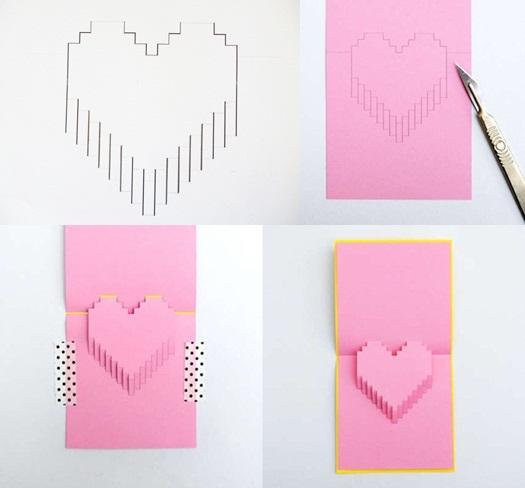 Valentine làm thiệp nổi trái tim dành tặng người yêu - Ảnh 2