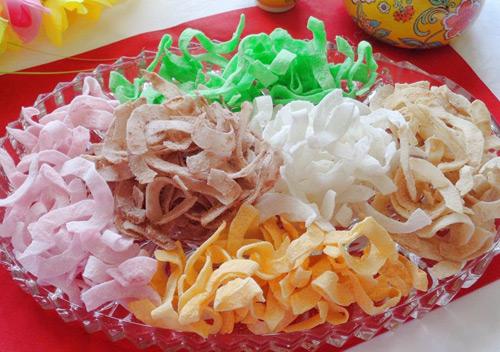 Làm mứt dừa nhiều màu bằng sữa hoa quả cực đơn giản - Ảnh 4