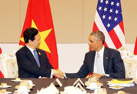 Thủ tướng Chính phủ Nguyễn Tấn Dũng gặp Tổng thống Mỹ Obama - Ảnh 1