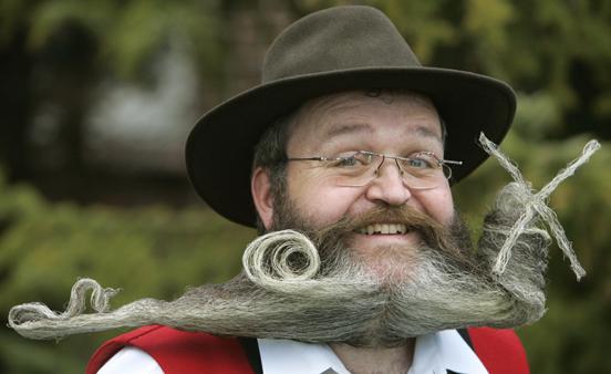 Những bộ râu kỳ dị nhất thế giới - Ảnh 1