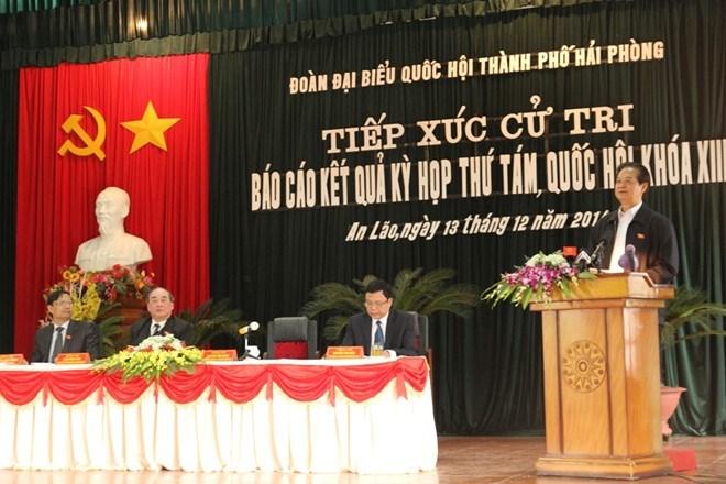 Thủ tướng Chính phủ tiếp xúc cử tri Hải Phòng - Ảnh 2