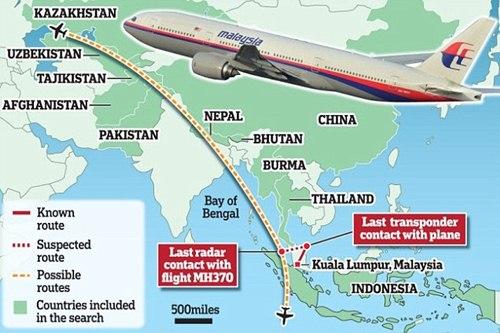"""Trung Quốc """"đòi"""" Malaysia cung cấp dữ liệu vệ tinh về MH370 - Ảnh 1"""