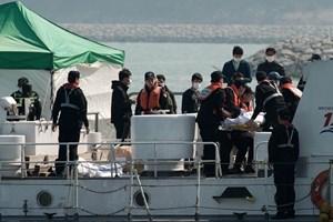 Chìm phà Sewol: Thi thể các học sinh đều bị gãy ngón tay - Ảnh 1