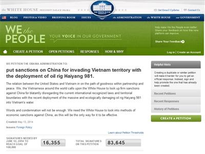Đã có 83.645 chữ ký kiến nghị Nhà Trắng trừng phạt TQ - Ảnh 2