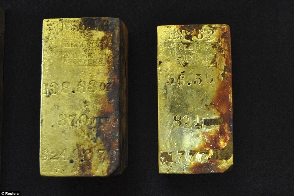 """""""Mót"""" được  30 kg vàng trong xác tàu đắm cách đây 157 năm - Ảnh 1"""