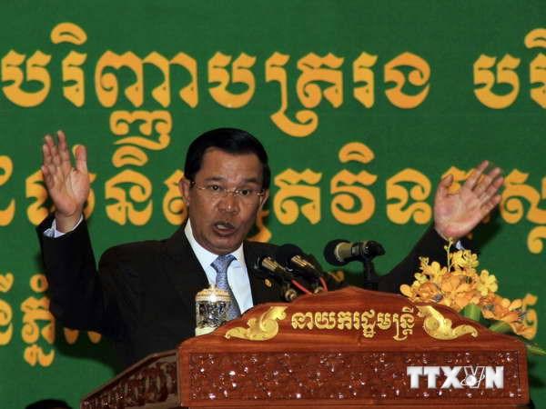 Thủ tướng Hun Sen: Sẽ không có bầu cử lại tại Campuchia - Ảnh 1