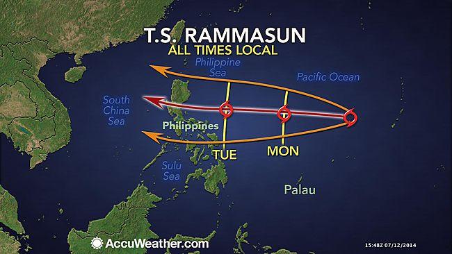 Bão Rammasun mạnh dần, có thể tiến vào Biển Đông - Ảnh 2