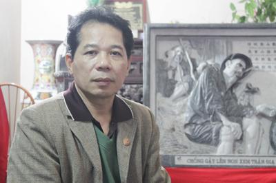 Nghệ nhân tranh đá với tuyệt tác về bút tích Di chúc Bác Hồ - Ảnh 1